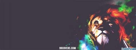 beautiful abstract lion facebook cover timeline photo