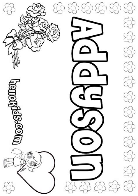 addyson coloring pages hellokidscom