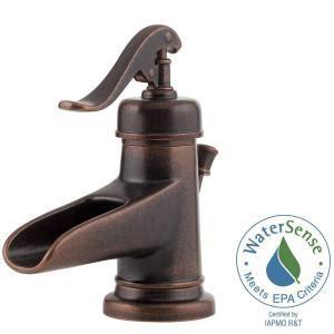 Rustic Bronze Bathroom Faucets by Pfister Ashfield 4 In Centerset Single Handle Bathroom