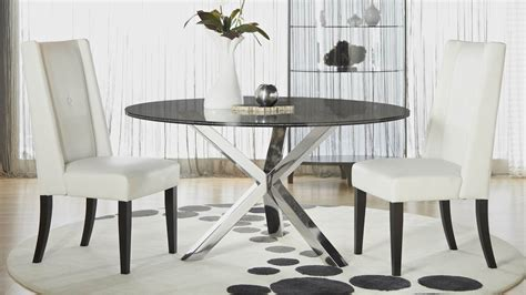 crackle glass table crackled 60 quot dining table top zuri furniture 2978