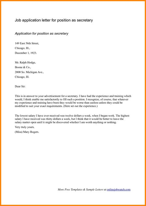 Cover Letter For Open Application by 5 Cv Letter Of Application Theorynpractice
