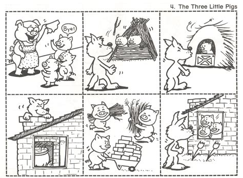 4 3 pigs Fairy tales kindergarten Three little pigs