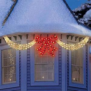 30, U0026quot, Pre-lit, Clear, Swags, And, Red, Bow, Outdoor, Christmas, Window, Decor, -, Walmart, Com
