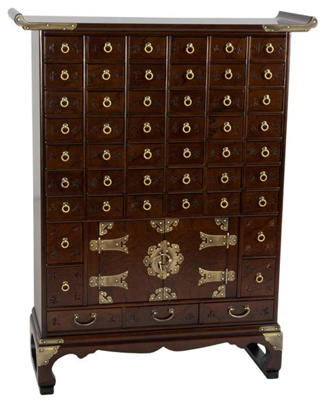 korean antique style  drawer apothecary chest asian