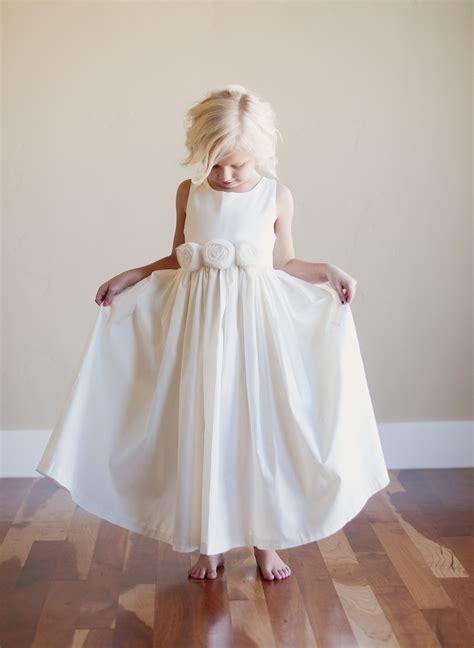 ivory flower girl dress sfor beach wedding  rustic