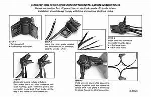 Kichler U00ae Pro Series Wire Connector Installation Instructions