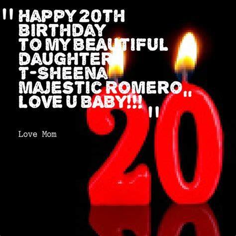 20th Birthday Quotes Sayings