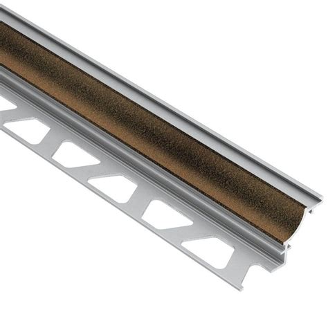 schluter tile trim colors schluter rondec bronze textured color coated aluminum 5 16