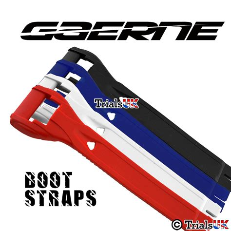 motocross boot straps genuine gaerne single boot straps in 4 colours and 2