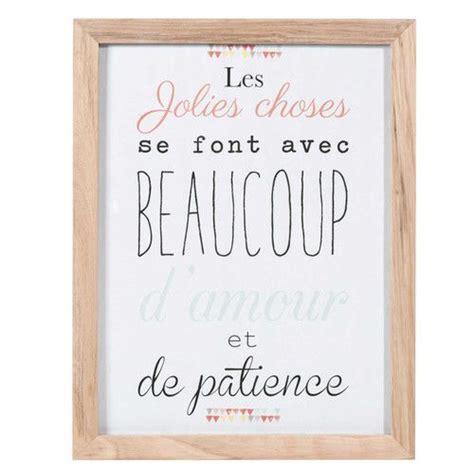 cette phrase en affiche personnalisee tableau en bois    cm les jolies choses idees