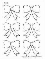 Bow Bows Coloring Printable Template Christmas Pages Templates Paper Tie Pdf Stencils Printables Firstpalette Crafts Cut Sheet Stencil Valentines Pattern sketch template