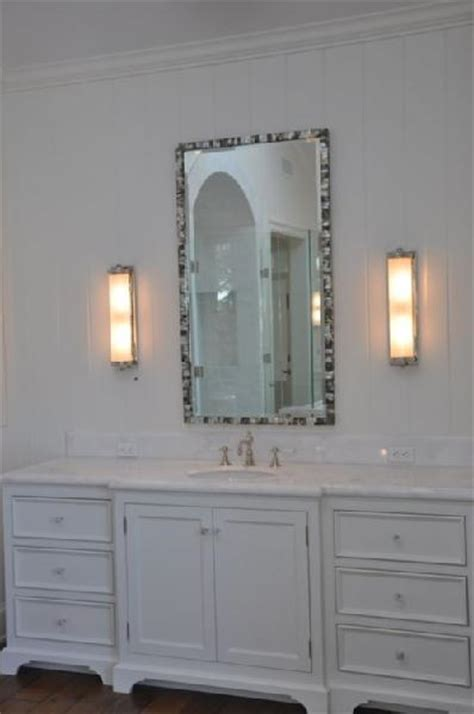mother  pearl mirror transitional bathroom