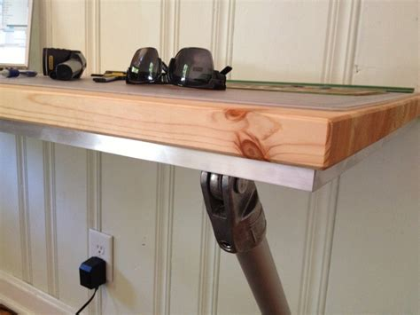 how to make a wall mounted desk build a simple wood desk online woodworking plans