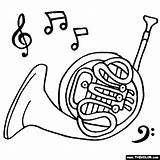 Horn French Horns Coloring Instruments Drawing Musical Instrument Ram Colouring Thecolor Brass Sheets Piccolo Craft Getdrawings Clip Play Drawings Rams sketch template