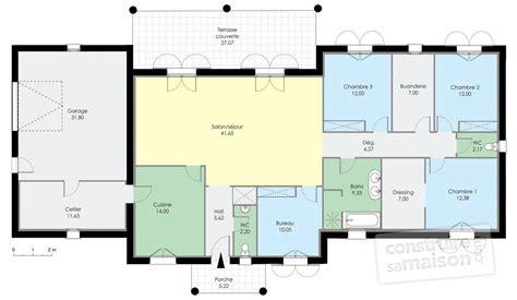 maison contemporaine 1 d 233 du plan de maison