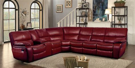 red sectional sofa with recliner red leather sectional reclining sofa www energywarden net