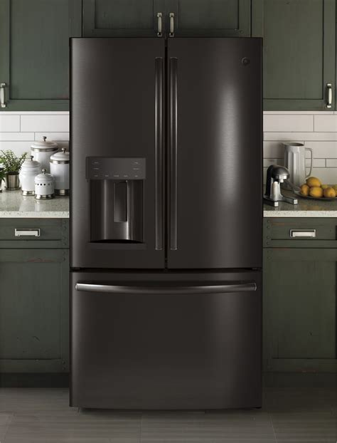 gfegblts ge   cu ft french door refrigerator led black stainless steel