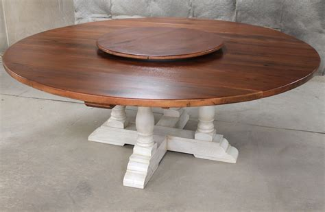 "80"" Round Drop Leaf Table   ECustomFinishes"