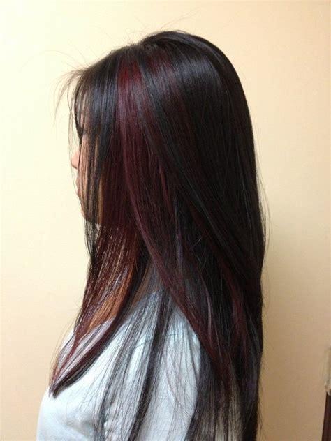 Red Peek A Boo Lowlite Yelp Hair Stylescolor Friseur