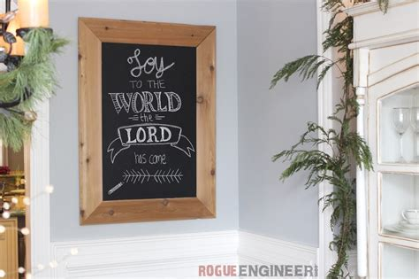 diy cedar framed magnetic chalkboard  plans