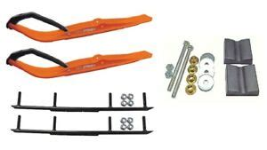 ca pro orange razor snowmobile skis    bars complete kit ebay