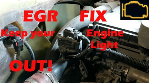 egr quick fix   engine light  youtube