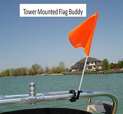 Boat Safety Flag Holder by Flag Buddy Tower Mounted Rotating Skier Flag Holder