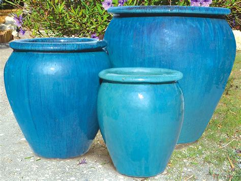 Awesome Large Glazed Ceramic Planters Large