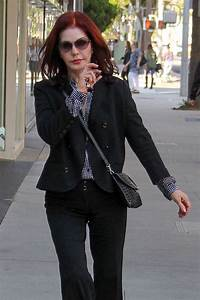PRISCILLA PRESLEY Out and About in Beverly Hills 05/10 ...