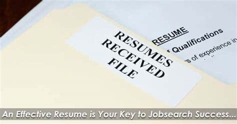 How To Write An Effective Resume by Jobseeker Resources School Hours