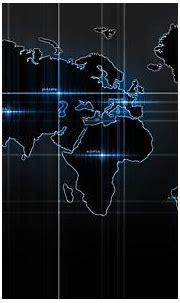 Blue world map Atlas - Phone wallpapers