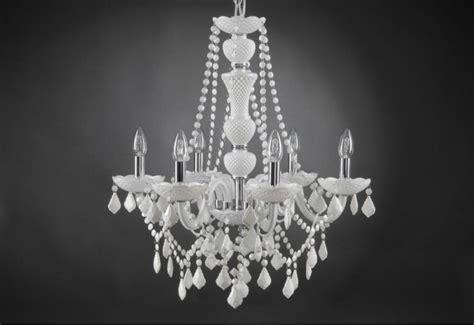 lustre trianon blanc  lampes  pampilles amadeus amadeus