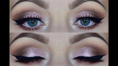 metallic pink rose gold makeup tutorial youtube