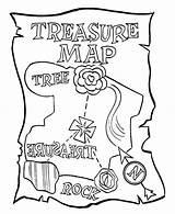 Treasure Map Coloring Rose sketch template