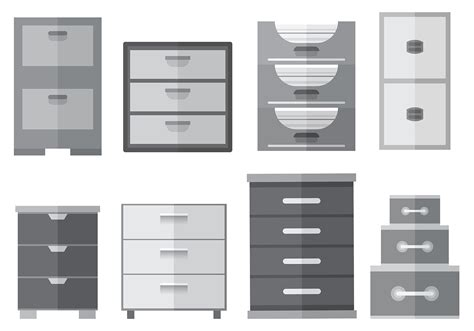 file cabinet icons vector   vector art