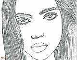 Billie Eilish Coloring Singer Raskrasil Talented Portrait sketch template