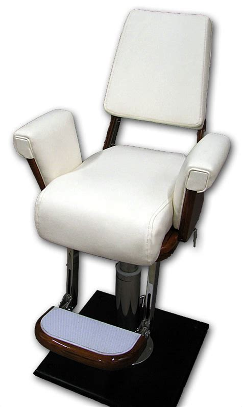helm chair will all options white or teak helm chairs