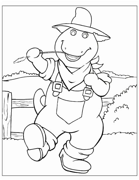 barney coloring pages bestofcoloringcom