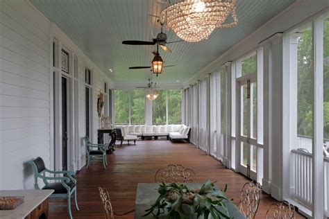 Screen Porch Plans Craftsman with Ceiling Fan Manufactured