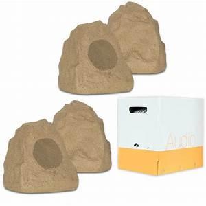 Theater Solutions 4r4s Outdoor Sandstone Rock 4 Speaker