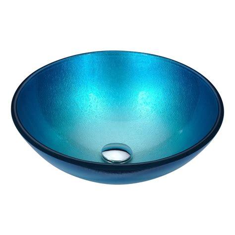 reviews of kitchen sinks anzzi posh series deco glass vessel sink in silver blue ls 4844