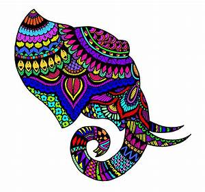 Colorful Abstract Elephant Art | www.imgkid.com - The ...