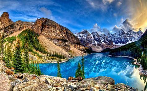 Moraine Lake In Alberta, Canada Hd Wallpaper