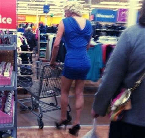 lift bro big calves high heels  blue dress