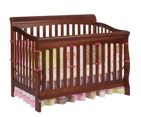 delta crib parts delta children venetian sleigh 4 in 1 crib cherry