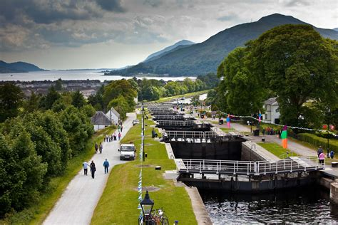 Loch Ness Canal Boat Hire by Caledonian Canal Walking Running Scottish Canals