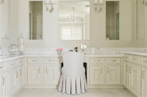 ivory master bathroom  robert abbey bling chandelier
