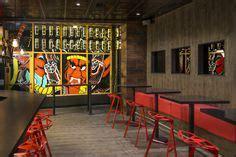 72 Best Restaurant Design: Wood Flooring Design on Walls