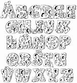 Alphabet Fonts Lettering Coloring Hand Calligraphy Letter Template Letters Writing Cool Handwriting Alphabets Pages Graffiti Abc Visit Creative Templates Journal sketch template
