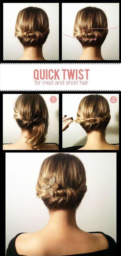 12 easy hair tutorials for short to medium length hair